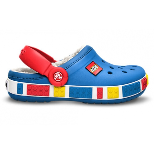 55ce5d4973 Crocs Crocband Mammut Lego Clog/sea blue/red, gyerek papucs