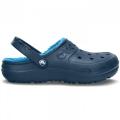 Crocs Hilo Lined Clog /Navy-Ocean béléses női papucs