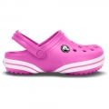 Crocs crocband x-clog kids party pink/wht gyerek papucs C10/11