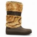 Crocs Modessa Furry Boot /espresso női csizma